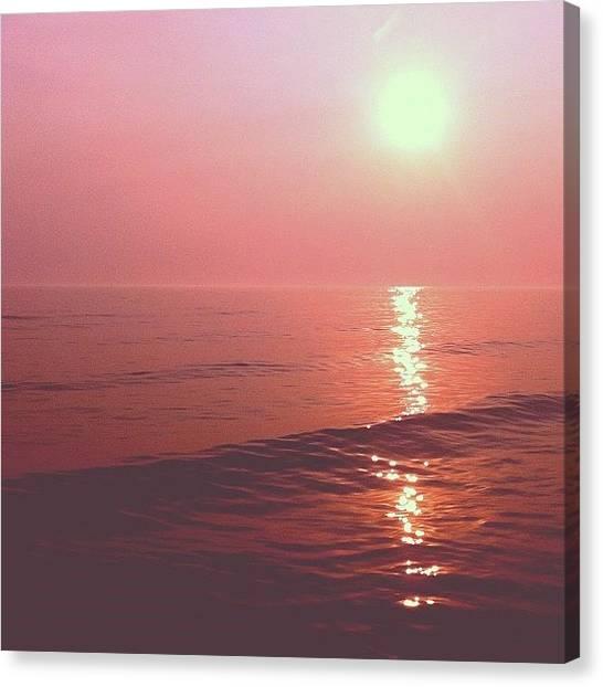 Lake Michigan Canvas Print - Lake Sunset by Cassie OToole