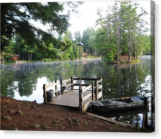 lake Vanare dock Canvas Print by Lali Partsvania