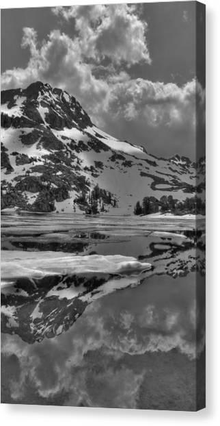 Snow Melt Canvas Print - Lake Winnemucca Reflections by Brad Scott