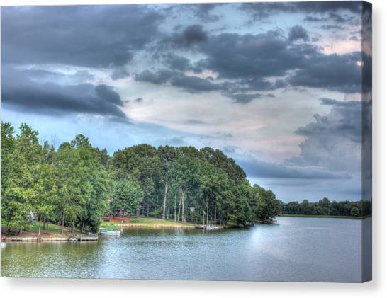 Lakeside 2 Canvas Print by Barry Jones