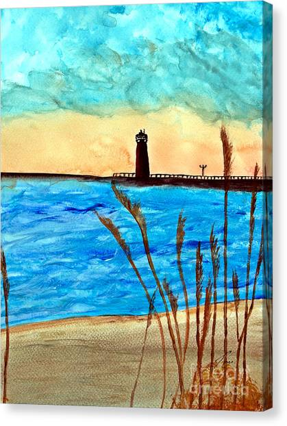 Lakeside Luxury Canvas Print