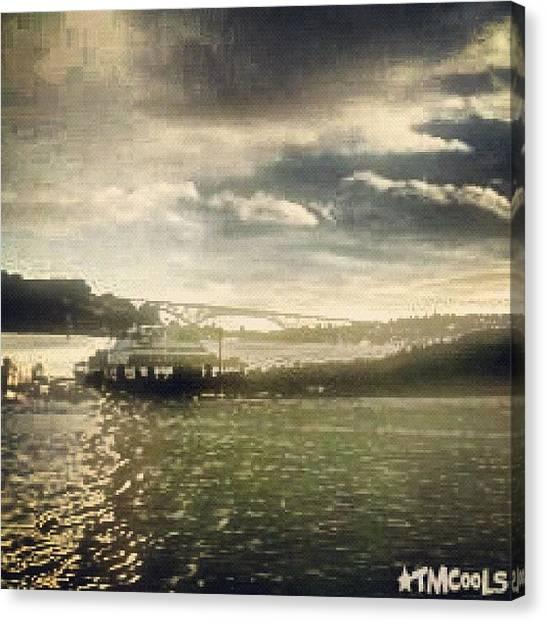 Lake Sunsets Canvas Print - #lakeunion #doubleexposure #lake #urban by Tanisha C