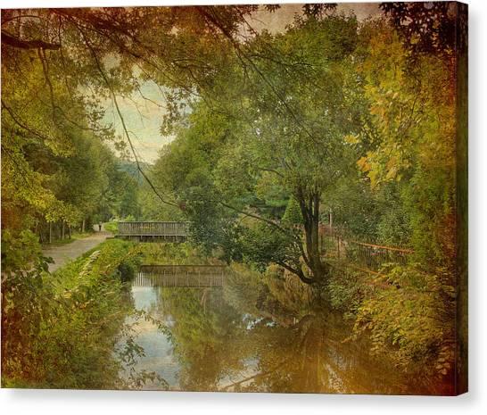Lambertville Towpath Canvas Print