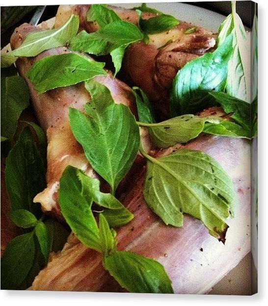 Onions Canvas Print - #lambleg With #basil #parsley #redwine by TC Li