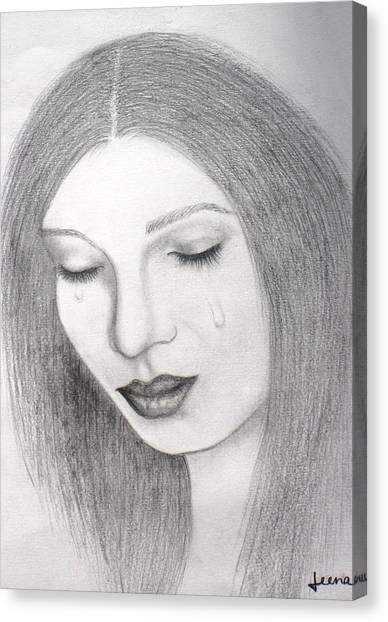 Lamenting Soul Canvas Print by Rejeena Niaz