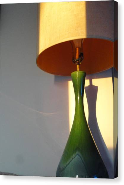 Lamp And Shadows Canvas Print by Guy Ricketts