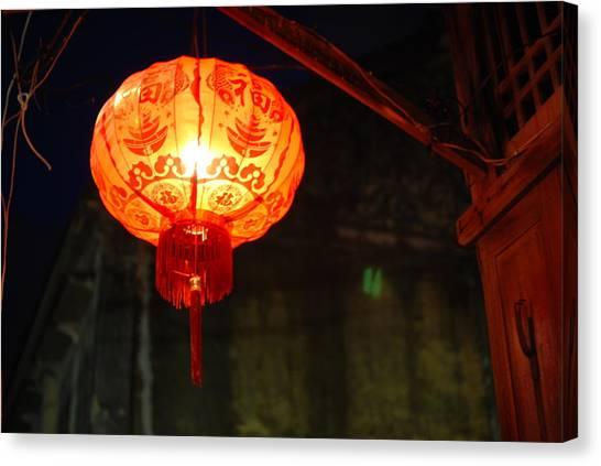 Lamp Canvas Print by Kriangkrai Riangngern