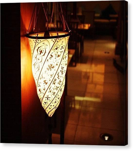 Om Canvas Print - #lamp #light #macau #bright by Om Bhatia