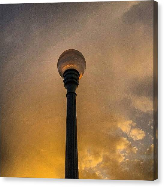 Maine Canvas Print - Lamp Post ~ #eveningwalk #backcove by Chris T Darling