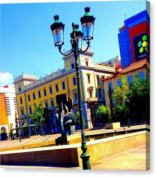 Greek Art Canvas Print - Lamppost #lamppost #greek #athens by Dimitre Mihaylov