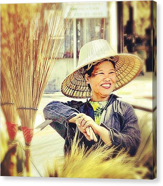 Bamboo Canvas Print - Land Of A Thousand Smiles #smile by A Rey