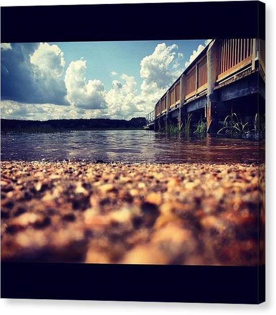 Marshes Canvas Print - #landing #water #hightide #dock #clouds by Megan Nicole