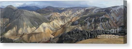 Landmannalaugar Panorama 1 Canvas Print