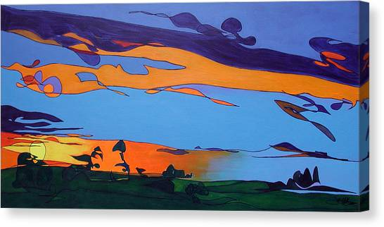 Canvas Print featuring the painting Landscape 283 by John Gibbs
