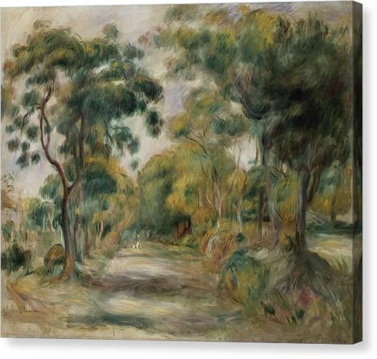 Pierre-auguste Renoir Canvas Print - Landscape At Noon by  Pierre Auguste Renoir
