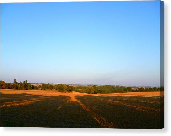 Landscape Near Mauvezin Canvas Print by Sandrine Pelissier
