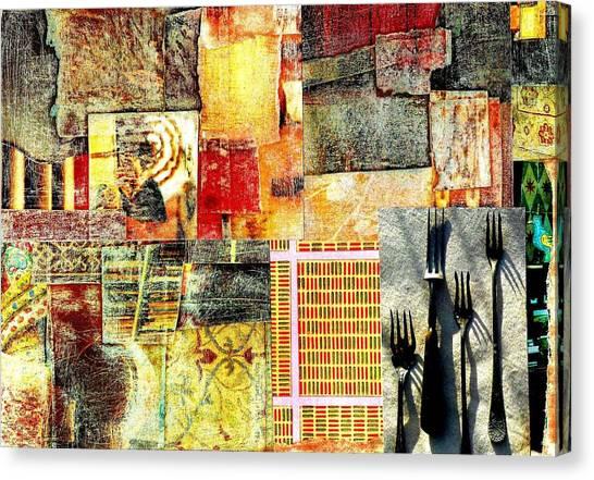 Landscape With Forks Canvas Print by Jann Sage