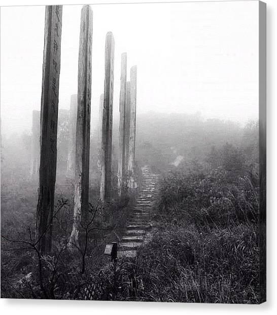 Om Canvas Print - #lantau #trek 2011 #mountain #chinese by Om Bhatia
