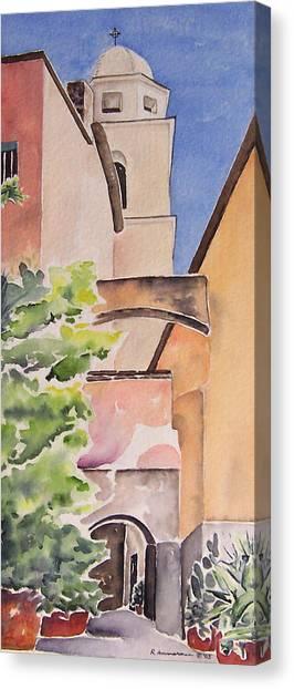Largo Dell'oratorio Canvas Print by Regina Ammerman