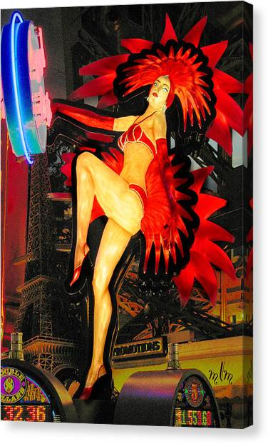 Las Vegas Lady Canvas Print