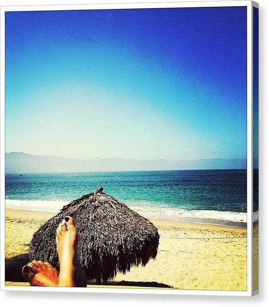 Feet Canvas Print - Last Day In Paradise (puerto Vallarta) by Natasha Marco