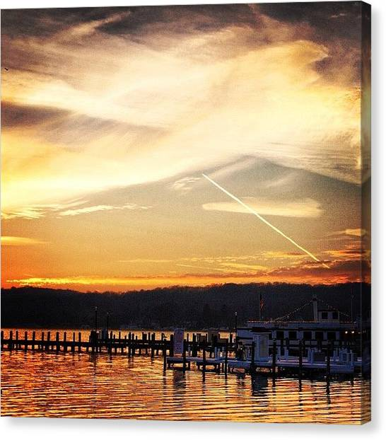 Wisconsin Canvas Print - Last Night. #november_sky  #drive_by by Aran Ackley