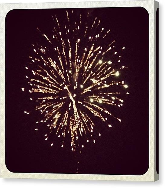 Fireworks Canvas Print - Last Night Was A Good Night by Macy Jane