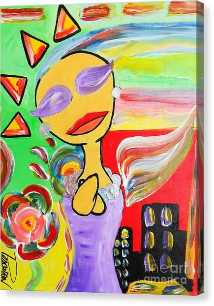Laste Sunshine  Canvas Print by John Pescoran