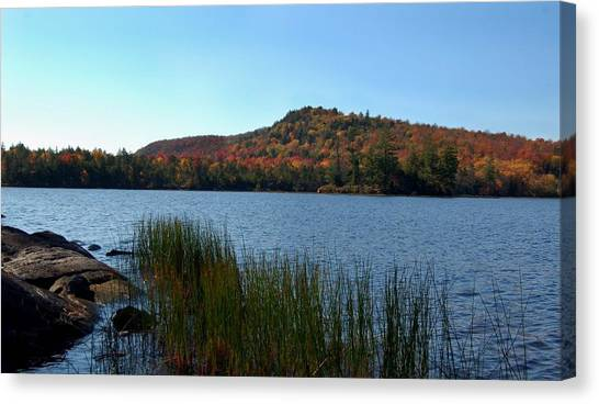 Late Fall On Lake Lila Canvas Print