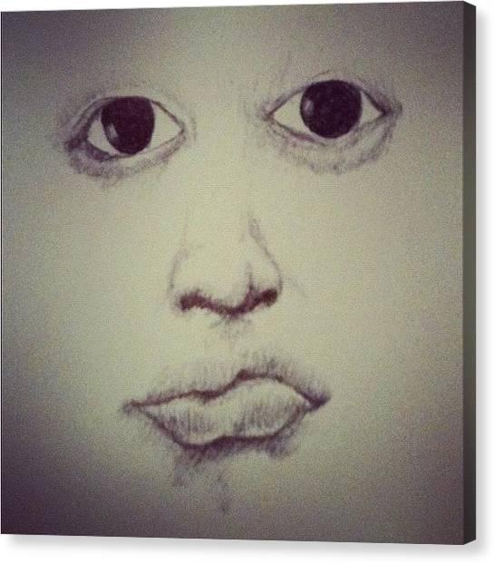 Ballpoint Pens Canvas Print - Late Night Sketch. #art #latenight by Nikomin Supnet