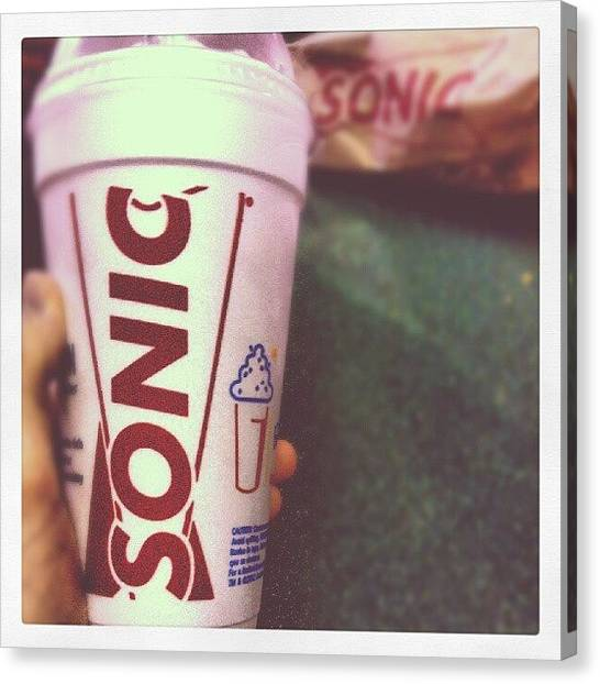 Maryland Canvas Print - Late Night Sonic Run, Again. #sonic by Captain Bell
