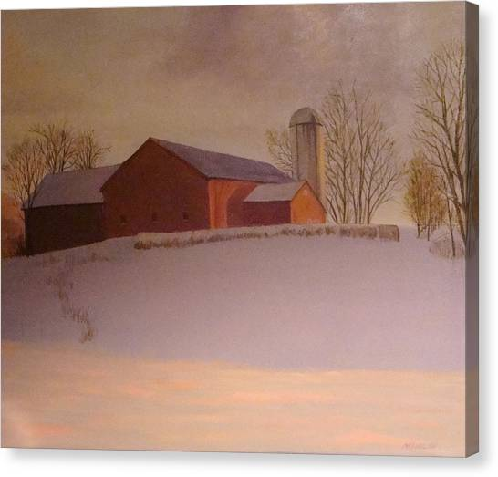Late Winter At The Lufkin Farm Canvas Print by Mark Haley