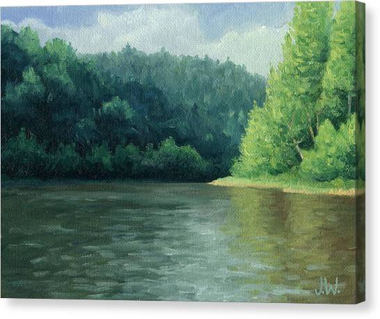 Canvas Print featuring the painting Later That Day by Joe Winkler
