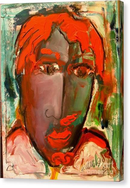 Laubar Face Adele Canvas Print by Laurens  Barnard