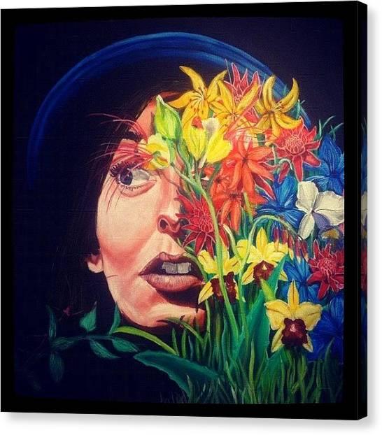 War Canvas Print - Laura#art #artwar #acrylic #girl by Art War