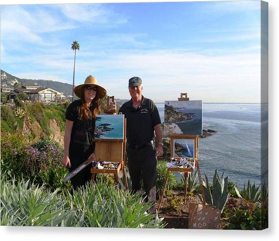 Laurel And I Painting Canvas Print by Randy Sprout