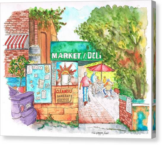 Laurel Canyon Market And Deli In Laurel Canyon, Hollywood Hills, California Canvas Print