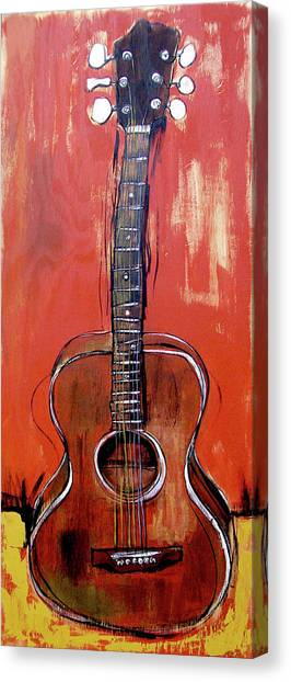Canvas Print featuring the painting Laurelyn's Guitar by John Gibbs