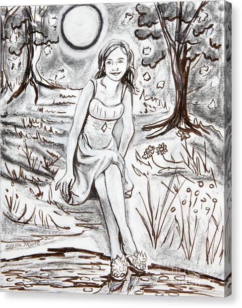 Lauren At Theater Class Canvas Print