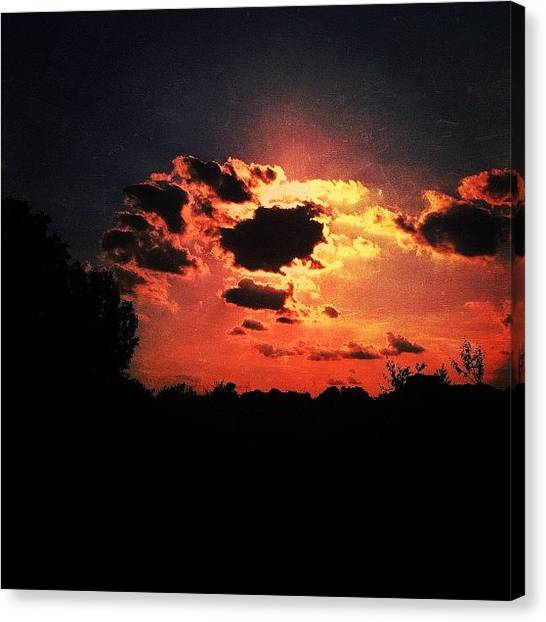 Lava Canvas Print - Lava In The Sky. #lava #sky #clouds by Cat Noone