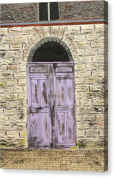 Lavender Door-france Canvas Print