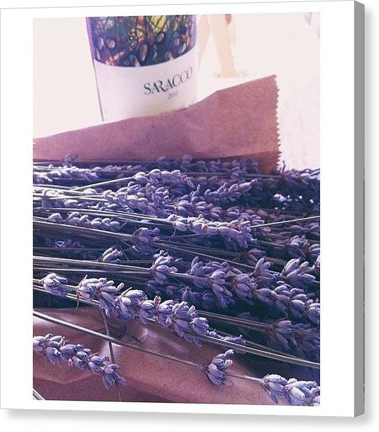 Still Life Canvas Print - Lavender Still-life by Ann K