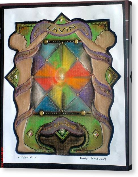 Lavin Family Crest Canvas Print