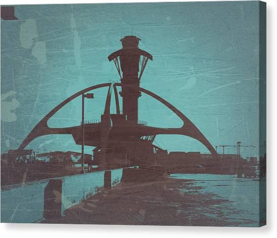 Airports Canvas Print - LAX by Naxart Studio