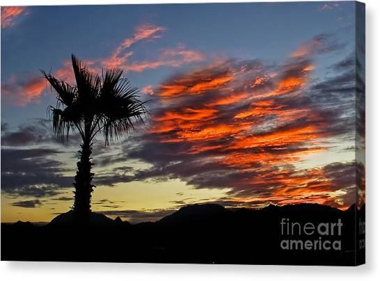 Desert Sunrises Canvas Print - Layered Sunrise by Robert Bales