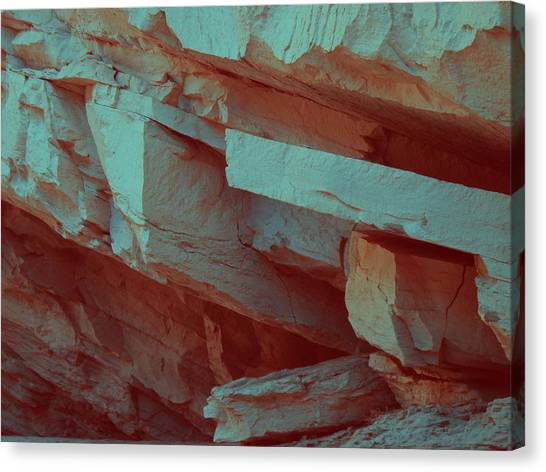 Death Valley Canvas Print - Layers Of Rock by Naxart Studio