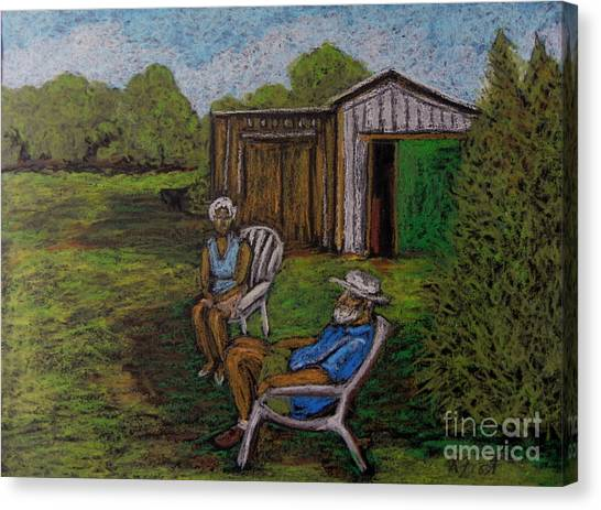 Lazy Day On The Farm Canvas Print by Reb Frost