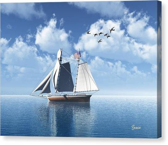 Lazy Day Sail Canvas Print