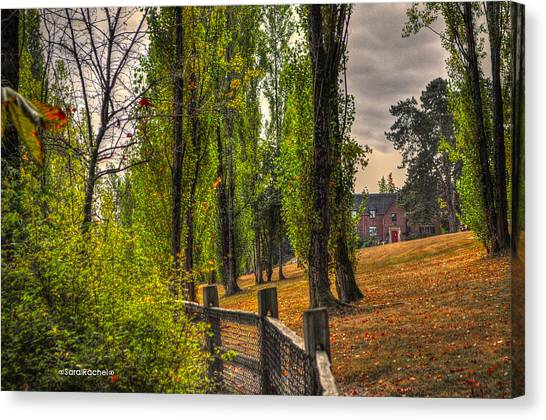 Le Chateau A Fall Day In The Nw Canvas Print by Sarai Rachel