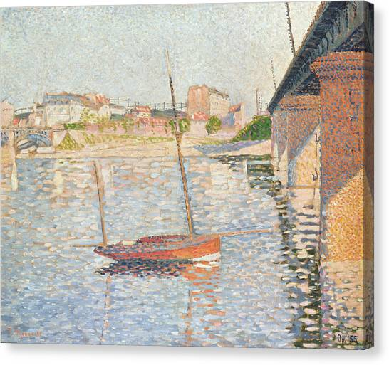 Post-impressionism Canvas Print - Le Clipper - Asnieres by Paul Signac